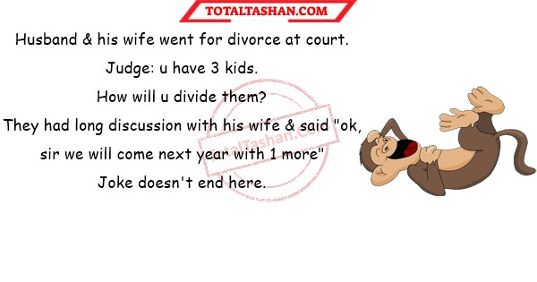 Husband His Wife Went For Divorce At Court Funny Jokes